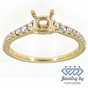 SemiMount Diamond Engagement Fine Ring Yellow Gold